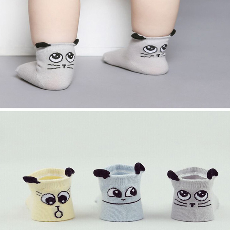 Heißer Verkauf Cartoon Niedlichen Tier Kid Kleidung Baby Socken Baumwolle Anti Slip Kleinkind Socken Für Jungen Mädchen 0-2 jahre