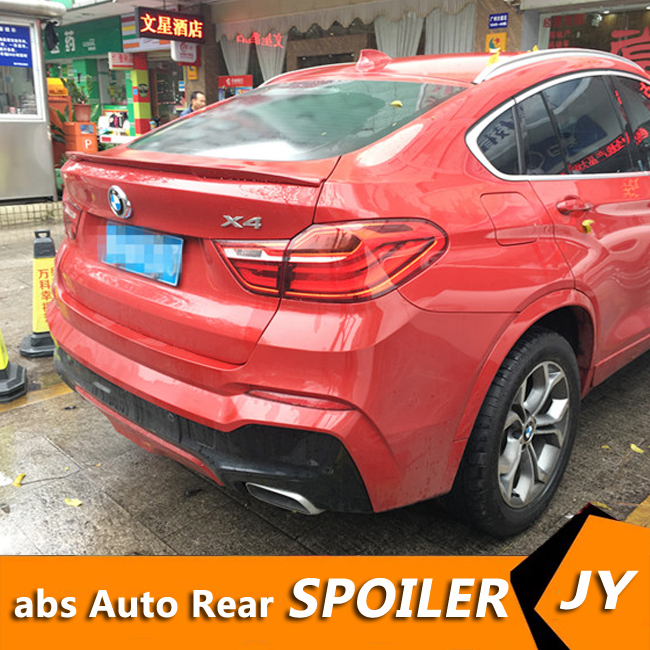 For <font><b>BMW</b></font> <font><b>F26</b></font> X4 <font><b>Spoiler</b></font> 2015-2018 X4 <font><b>F26</b></font> <font><b>SPOILER</b></font> High Quality ABS Material Car Rear Wing Primer Color Rear <font><b>Spoiler</b></font> image