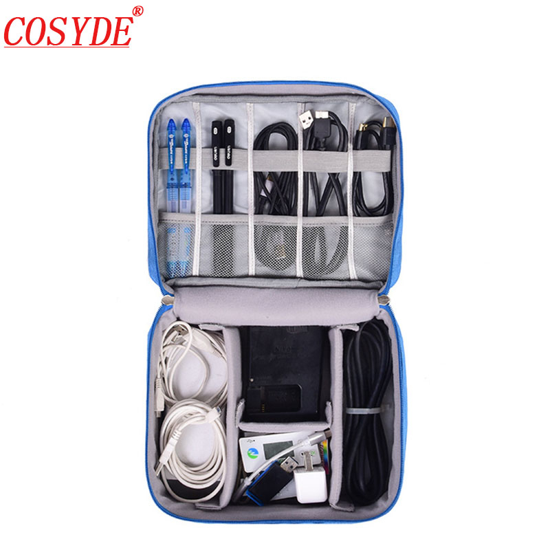 New Travel Cable Bag Portable Digital USB Gadget Organizer Charger Wires Cosmetic Zipper Kit Case Travel  Accessories Supplies