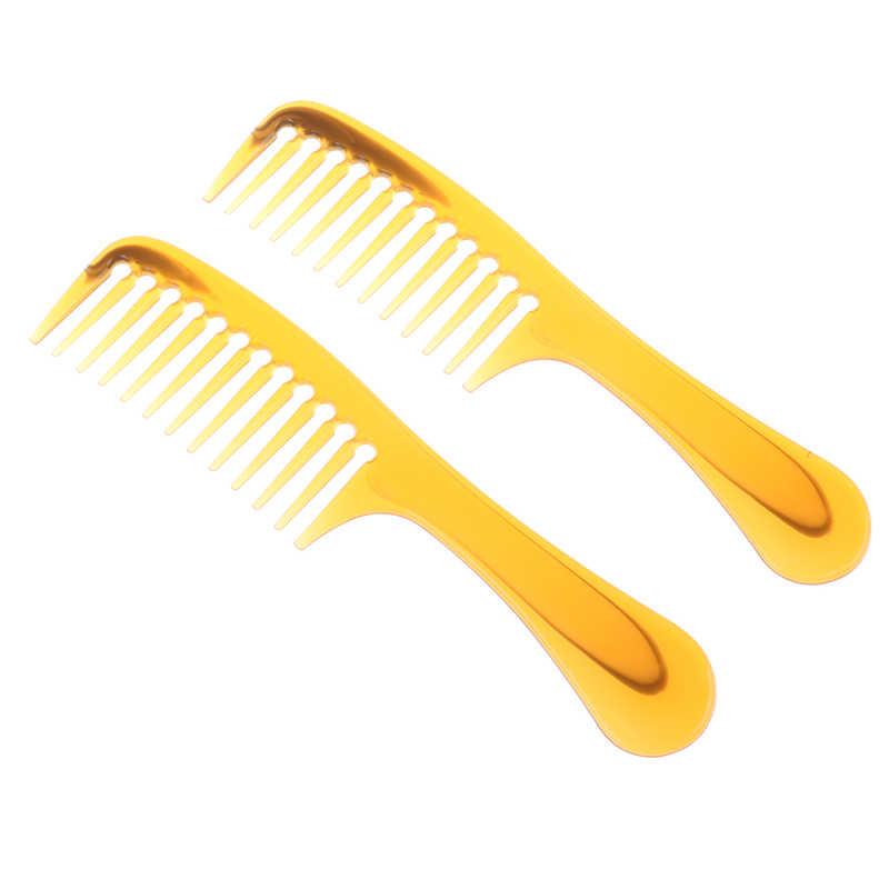 2 Pcs/lot 5 Gaya Hitam Hairdressing Sisir Anti-Statis Memotong Rambut Sisir Kusut Lurus Pro Salon Styling Alat 20 CM