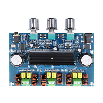 2*50W TPA3116 Audio Amplifier Board Class D Bass Subwoofer Amplifiers Bluetooth 5.0 Digital Power Amplificador tpa3116 digital amplifier board bluetooth 4 2 high power 2 1 hifi subwoofer bass module