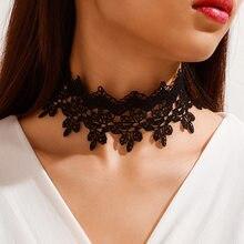 Классическое женское ожерелье-чокер, 1 шт., эластичное бархатное женское ожерелье, ювелирные изделия, подарок N002