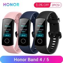 Honor Band 4 5 inteligentna opaska na rękę bransoletka z monitorem aktywności wodoodporne śledzenie aktywności urządzenia przenośne zatrzaski snu