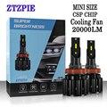 ZTZPIE 110 Вт 6500 лм 9005 k 9006/HB3 9003/HB4 H3 H1 H8 H7 H4/HB2/9012 H11 H9 светодиодная Автомобильная фара супер яркая лампа с чипом CSP