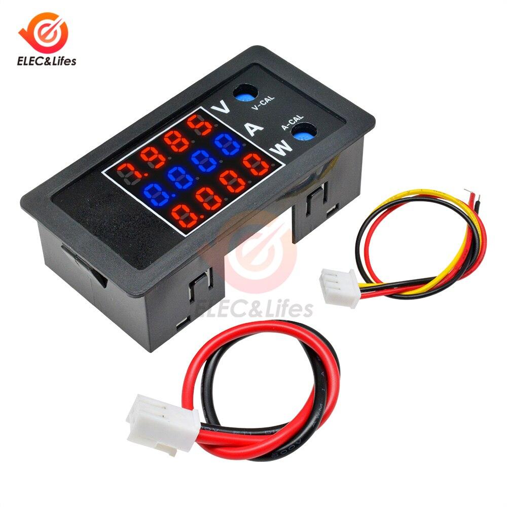 DC 0-100V 0-10A 1000W LCD voltímetro Digital amperímetro wattímetro 4 dígitos corriente de voltaje de alta precisión monitor medidor de potencia probador