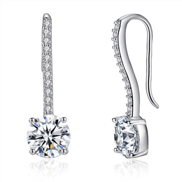 Hot Sale Women Earrings Luxury Inlaid CZ Stone Simple and Elegant Lady's Accessories Wedding Trend Earrings Jewelry 4