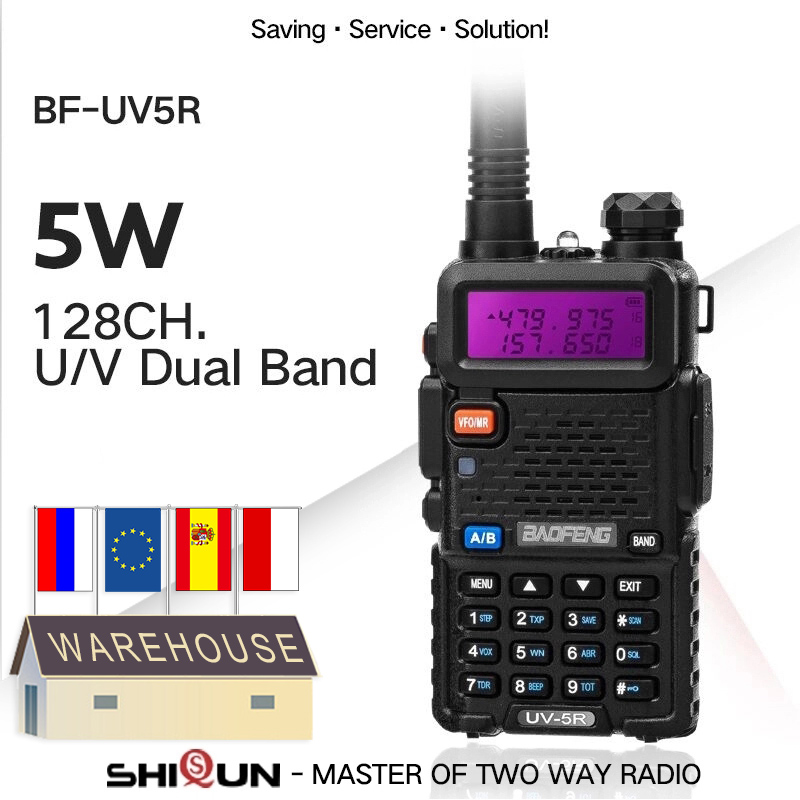 Baofeng UHF VHF Walkie-Talkie Dual-Band Two-Way-Radio Pofung Portable Uv 5r 2PCS Hot