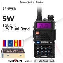 حار 1 قطعة أو 2 قطعة Baofeng UV 5R لاسلكي تخاطب المزدوج الفرقة Baofeng UV5R المحمولة 5 واط UHF VHF اتجاهين راديو Pofung UV 5R HF جهاز الإرسال والاستقبال
