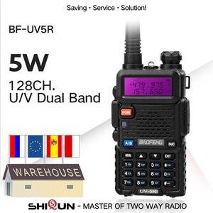 Hot 1PC or 2PCS Baofeng UV-5R Walkie Talkie Dual Band Baofeng UV5R Portable 5W UHF VHF Two Way Radio Pofung UV 5R HF Transceiver
