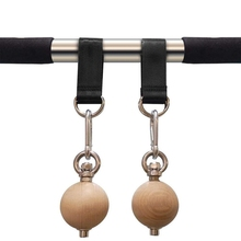Pull Up Ball Wood Climbing Balls with Grip Strength Training Tool for Outdoor In