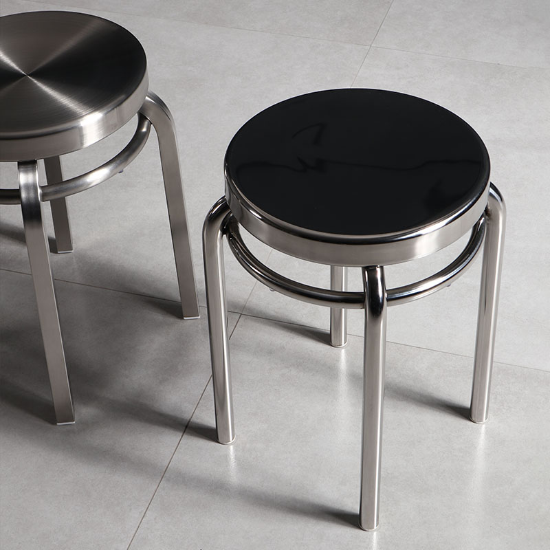 US $79.94 47% OFF|Nordic Stainless Steel Small Stool Home Dining Chair  Thick and Durable Laboratory Metal Chair Bedroom Stool 31*31*45cm,W-in  Stools & ...