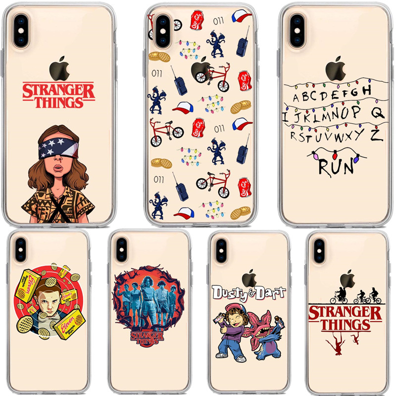 <font><b>Stranger</b></font> <font><b>things</b></font> season 3 Soft Silicone TPU <font><b>Phone</b></font> <font><b>Case</b></font> Cover for <font><b>iPhone</b></font> 8 7 6 6S Plus X XS MAX 5 5S SE <font><b>XR</b></font> American TV Coque Capa image