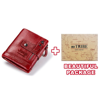HUMERPAUL Genuine Leather Wallet Fashion Men Coin Purse Small Card Holder PORTFOLIO Portomonee Male Walet for Friend Money Bag 14