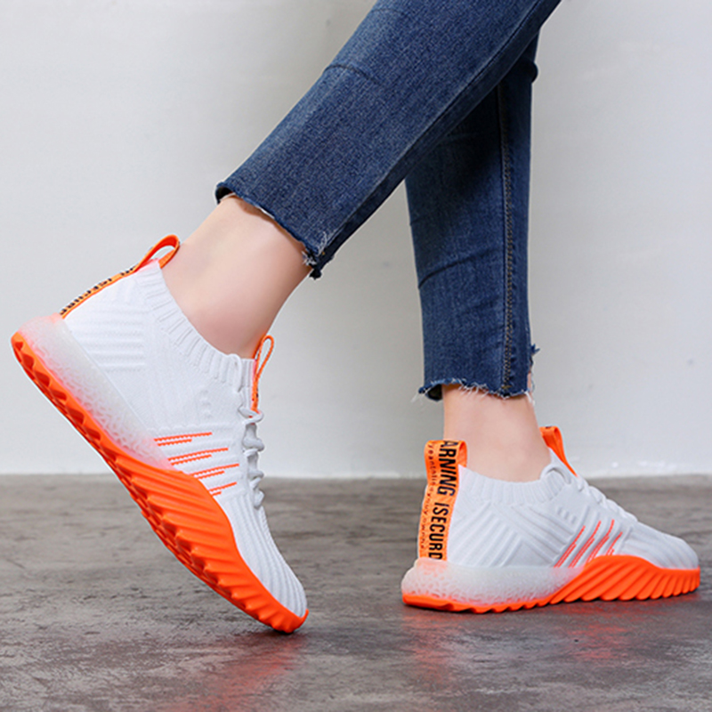 2019 Platform Sock Women Black Orange Green White Sneakers Chunky Shoes Mesh Tennis Feminino Trainers Casual Shoes FM-A22