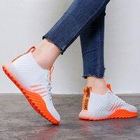 2019 Platform Sock Women Black Orange Green White Sneakers Chunky Shoes Mesh Tennis Feminino Trainers Casual Shoes FM A22