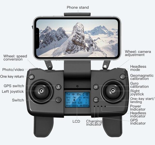 L900pro gps zangão 4k câmera dupla hd profissional fotografia aérea motor sem escova dobrável quadcopter rc distância 1200m 6