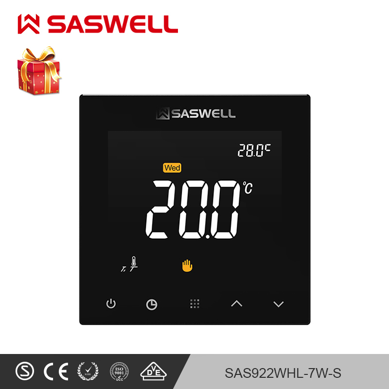 SASWELL WIFI Thermostat Controller For Water Floor Heating Room Thermostat Temperature For Weekly Programmable