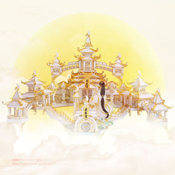 Piececool The moon palace 3D Metal Puzzle DIY Assemble Model Kits Laser Cut Jigsaw Toy Gift P143-WGK