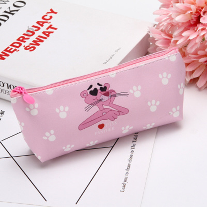 1pcs/sell Kawaii Pencil Case Cartoon Cute Pink Panther Pattern School Office Supplies Stationery Student Halloween Gift
