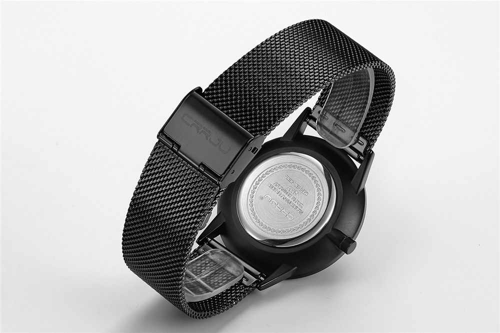 CRRJU クオーツ時計の男 2019 男性メッシュバンドステンレス鋼超薄型ファッション時計男性トップブランドの高級レロジオ masculino