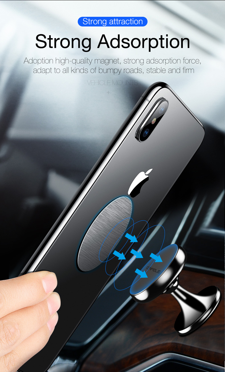 magetic car phone holder for xiaomi samsung huawei iphone  (3)