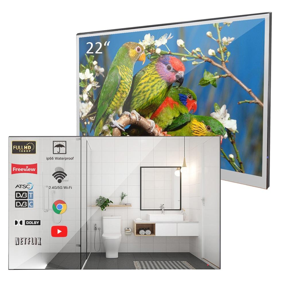 Souria-Velasting 22 inç rusya Android 7.1 güncellenmiş ayna LED akıllı TV su geçirmez anma banyo duvar açık ayna TV