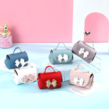 Cute Mini Handbag Gift Box Packaging Leather Bag Shape Wedding Birthday Favours Candy Bags Birthday Party Cosmetic Box Girl Gift