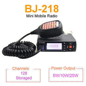 Image 2 - Baojie BJ 218 Walkie Talkie 25W 136 174MHz & 400 470MHz Dual Display MINI Mobile Radio Ham Radio for Car Bus Taxi Two Way Radio