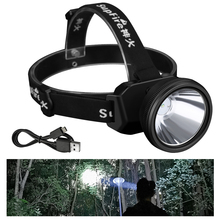 Supfire HL12 Spotlight Headlamp USB Rechargeable Waterproof Led Torch Long Range Large-scale Headlight Built-in 18650 Battery