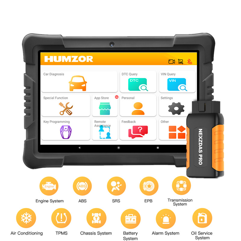 Автомобильный диагностический инструмент humзор NexzDAS Pro OBD2, инструмент IMMO TPMS EPB DPF SAS ABS инжектор для сброса масла, полный сервис, Автомобильный ...