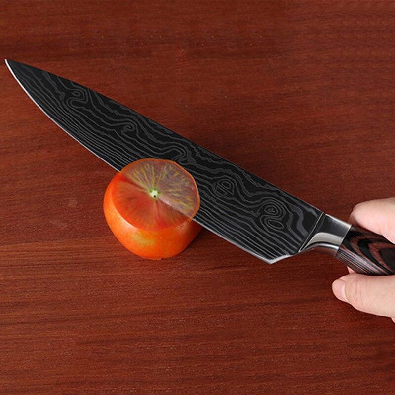 Iwelai 8 дюймовый поварский нож японской нержавеющей стали шлифовальный