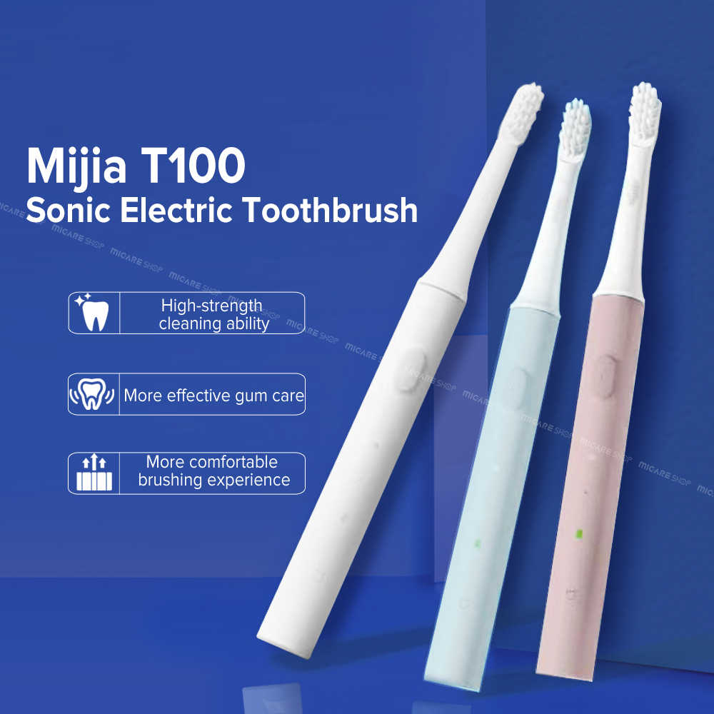 Mijia T100 Sonic Electric Toothbrush Adult Ultrasonic Automatic Toothbrush USB Rechargeable Waterproof Tooth Brush For Xiaomi