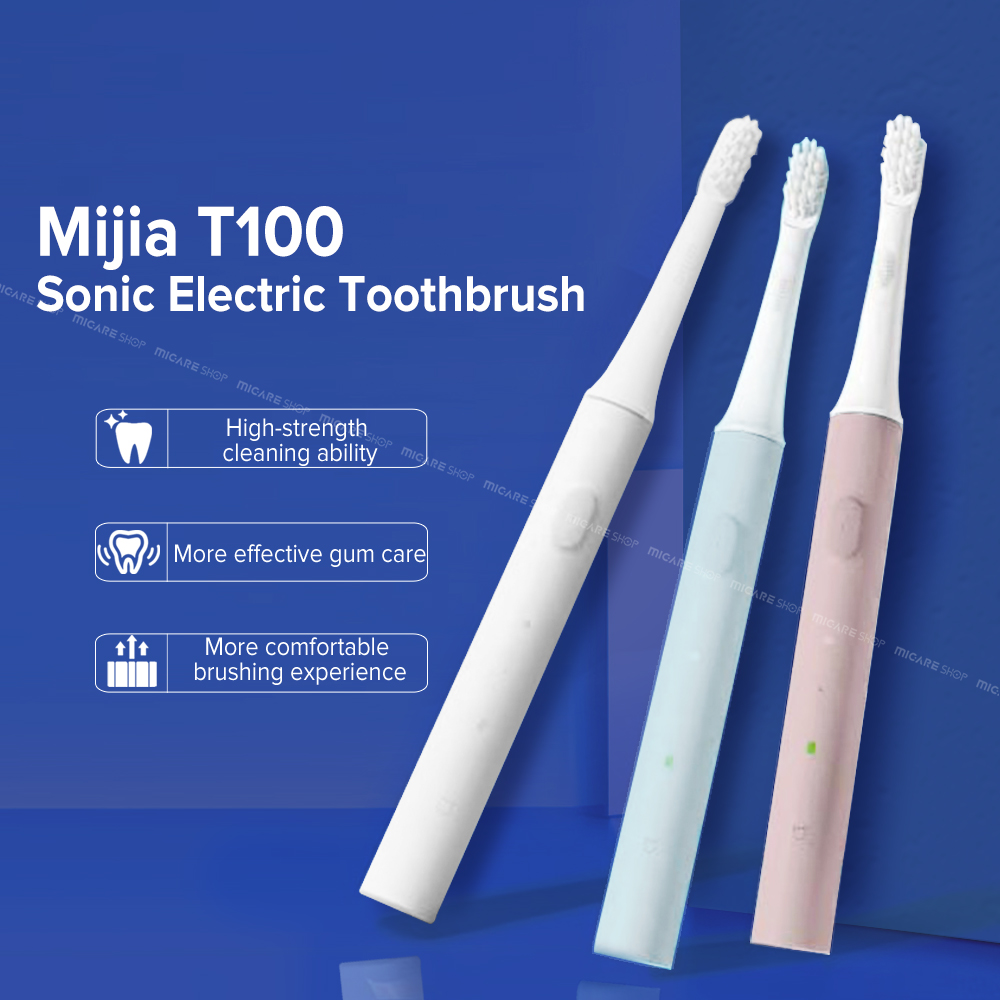 Mijia T100 Sonic Electric Toothbrush Adult Ultrasonic Automatic Toothbrush USB Rechargeable Waterproof Tooth Brush For Xiaomi(China)