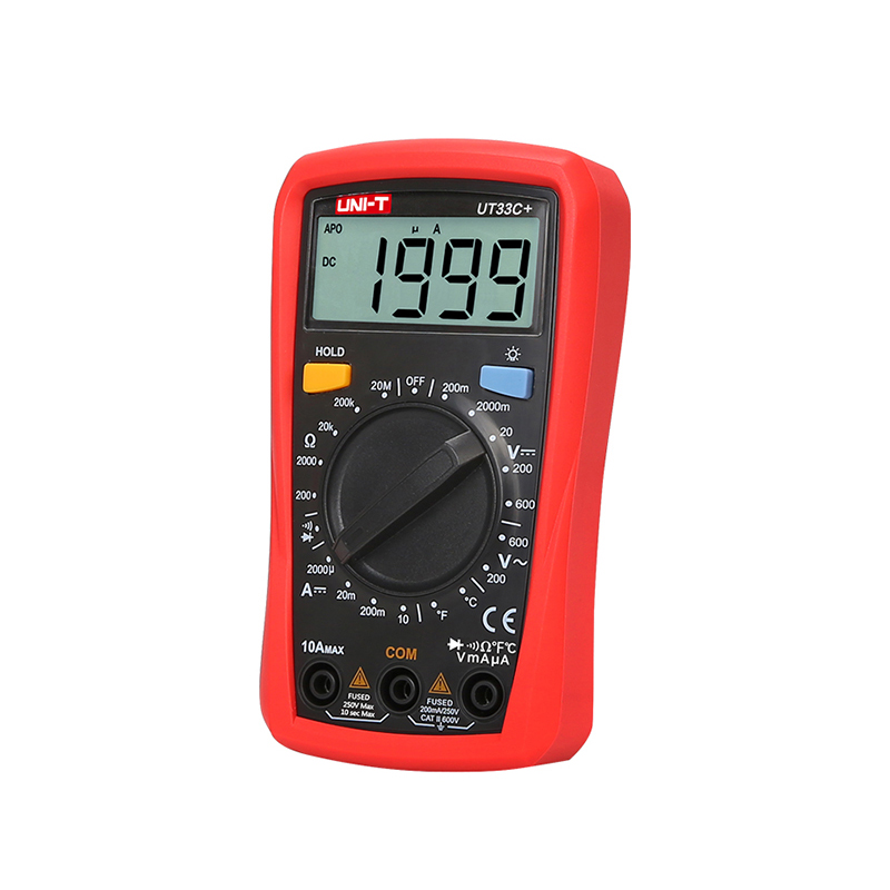 Image 2 - UNI T Digital Multimeter UT33A+ Auto Range Voltage Current Resistance Measure LCD AC DC +2mF Capacitance NCV Tester Backlight-in Multimeters from Tools