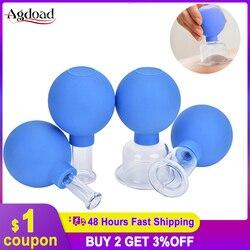 Вакуумные чашки для массажа головы из ПВХ 2/4 шт всасывающие банки для вакуумного массажа стеклянные банки китайская медицинская терапия Ме...