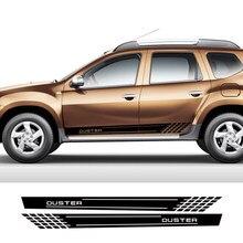 Autocollants latéraux de voiture en vinyle, 2 pièces, noirs, pour Dacia Duster 4x2 4x4 1.0 Tce 100 130 Turbo GPL, accessoires de voiture de luxe