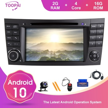 TOOPAI Android 10 Car Radio For Mercedes Benz E-Class W211 E300 CLK W209 CLS W219 Navigation GPS Multimedia Player DVD SWC IPS image