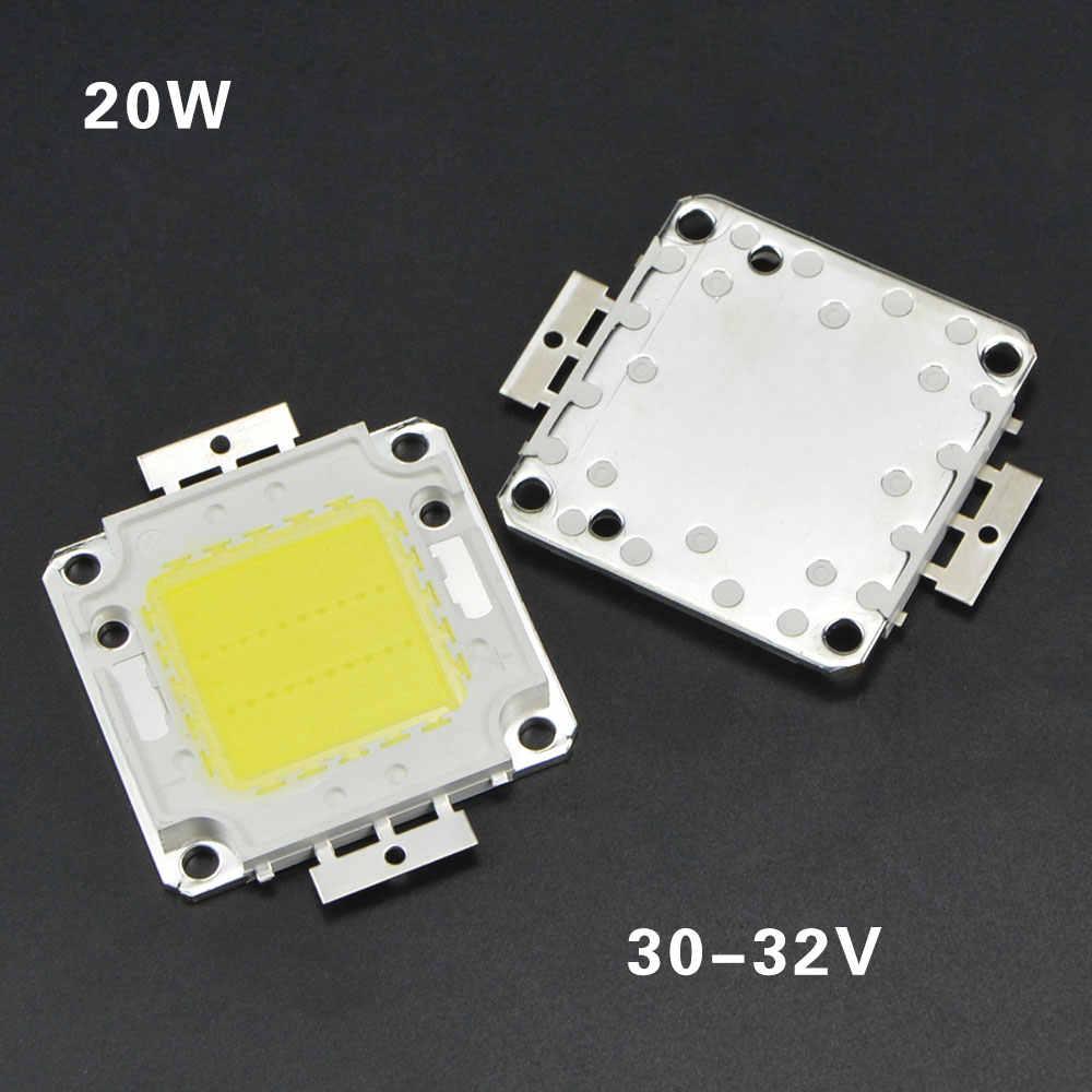 LED COB Chip 10W 20W 30W 50W wysokiej mocy zintegrowany układ scalony koraliki do lampy DIY LED chipy do reflektora reflektor