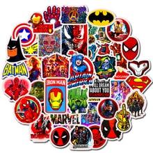 50 Pcs Mixed Not Repeating Marvel Cartoon Hero Stickers Car Bike Travel Luggage font b Phone