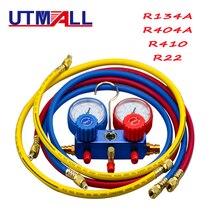 Coche nuevo aire acondicionado A/C refrigerante R134A R22 R404a R410 del núcleo de la válvula rápido removedor de instalador 3000PSI 1,5 M de manguera