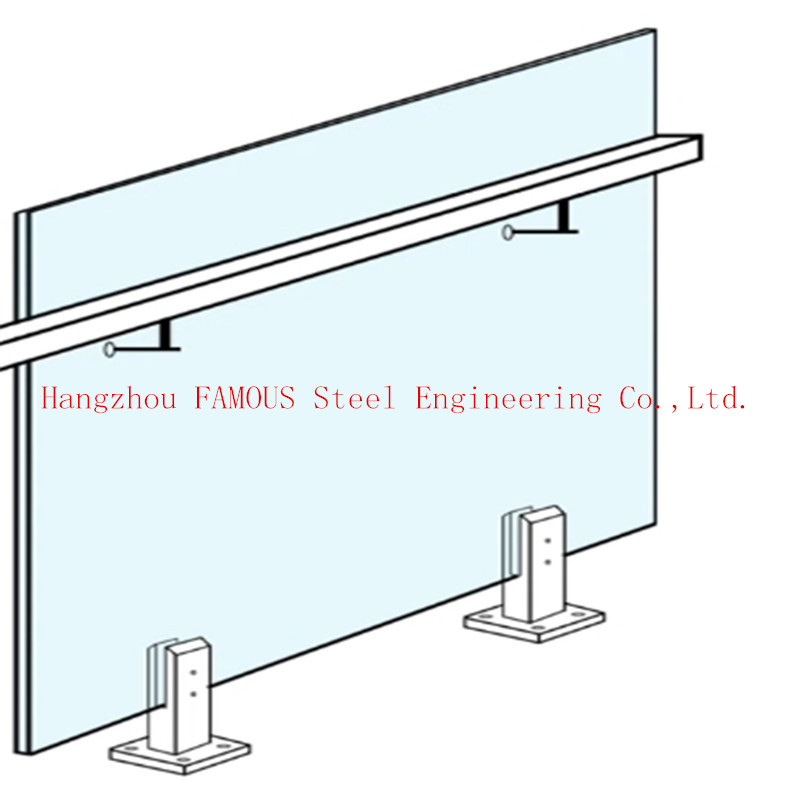 Home Decoration Metal Aluminum Glass Balustrade U Channel Bottom For Indoors And Outdoors