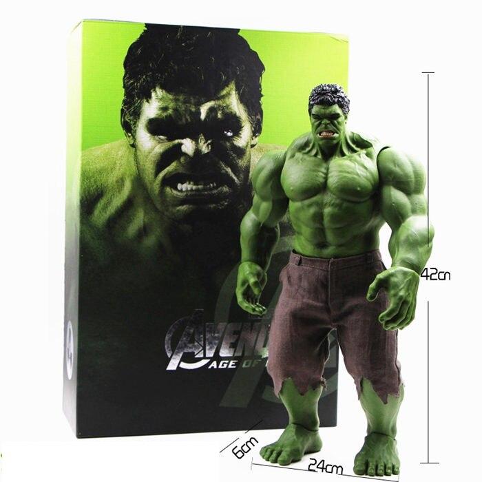 Vingadores quentes incrível hulk homem de ferro hulk buster hulkbuster 42cm pvc brinquedos figura de ação hulk esmagar modelo produtos acabados