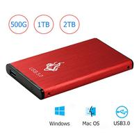 Portable 2.5 inch HDD External Hard Drive USB 3.0 SATA III 500GB/1TB/2TB 2.5 Hard Disk HD Moible HDD For Desktop PC Laptop New