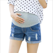 Shorts Femenino For Pregnancy Summer Thin Over Bump Elastic Waist Denim Maternity Shorts With Pocket Blue Plus Size XXL XL M bump pregnancy planner the