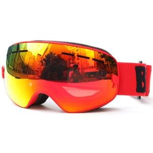 Image 1 - ילדי סקי משקפי UV400 אנטי ערפל כפול שכבות סקי מסכת משקפיים סנובורד החלקה Windproof משקפי שמש ילדים סקי משקפי