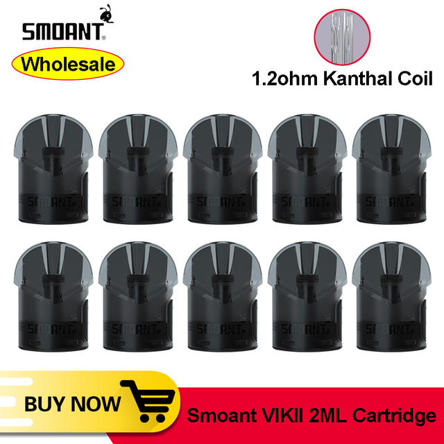 [Sprzedaż hurtowa] Smoant smoant VIKII 2ml wkład Pod z 1.2ohm kal cewki akcesoria do elektronicznego papierosa do smoant VIKII Kit
