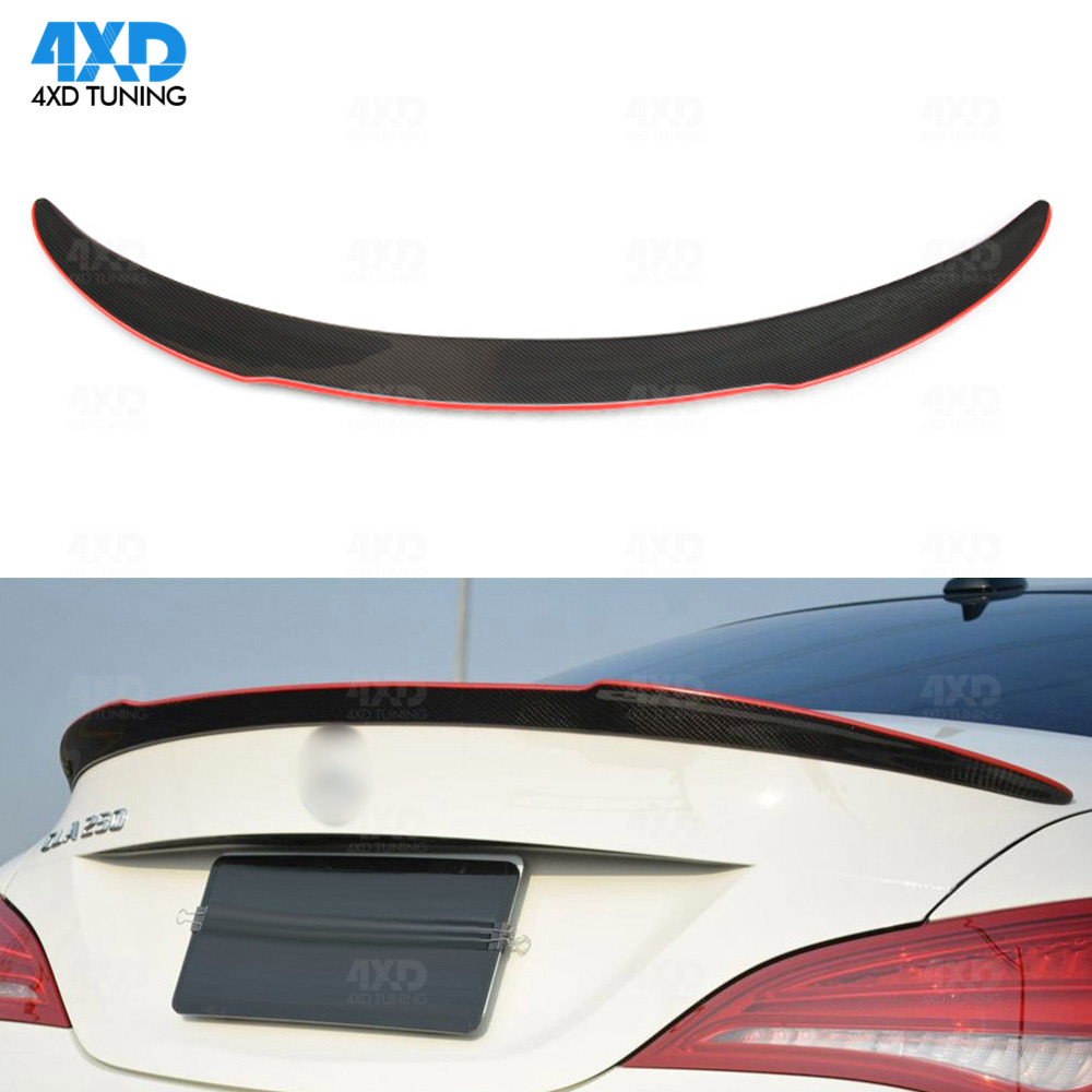 W117 Carbon Fiber Trunk Spoiler For Mercedes CLA AMG C117 Rear - Auto Replacement Parts - Photo 3