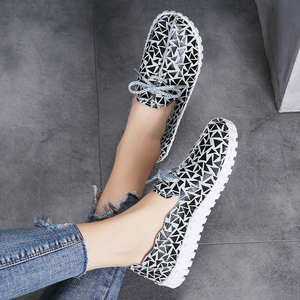 Image 3 - STQ Spring Women Flats Loafers Shoes Genuine Leather Flats Female Shoes Lace Up Loafers Casual Slip on Walking Shoes Woman 7760