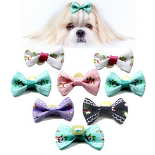 50/100pcs New Designs Handmade Pet Dog Hair Bows Bright Color Mixed Grooming Accessories Products