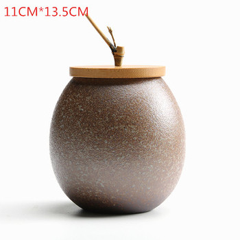 JIA-GUI LUO Ceramic tea box dried fruit storage tank sealed bottle tea accessories home sealed cans receive gifts D063 11